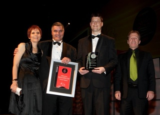 Westpac Awards night - on stage